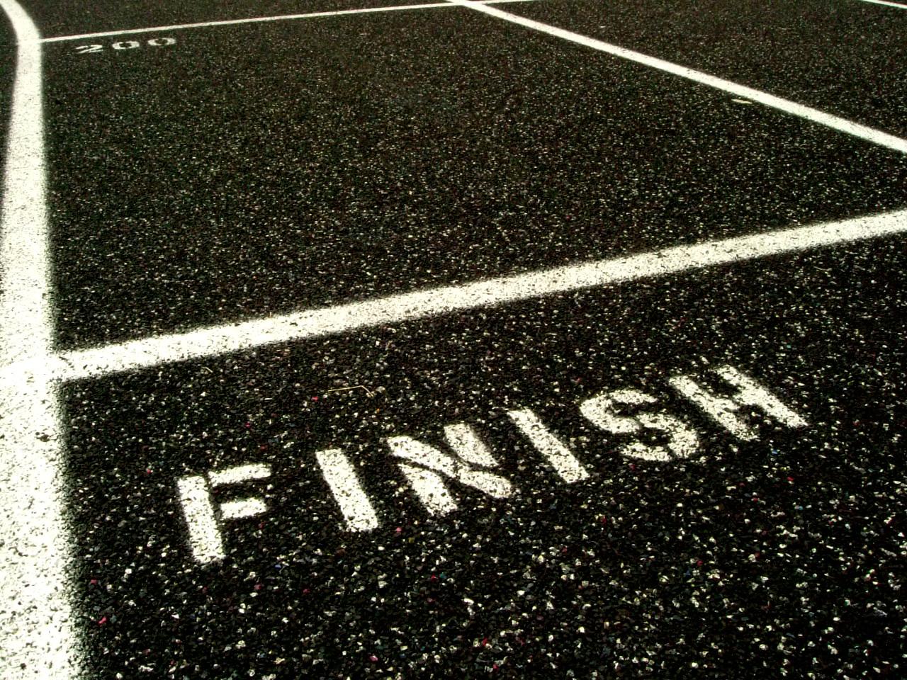 doelen, afstrepen, finish